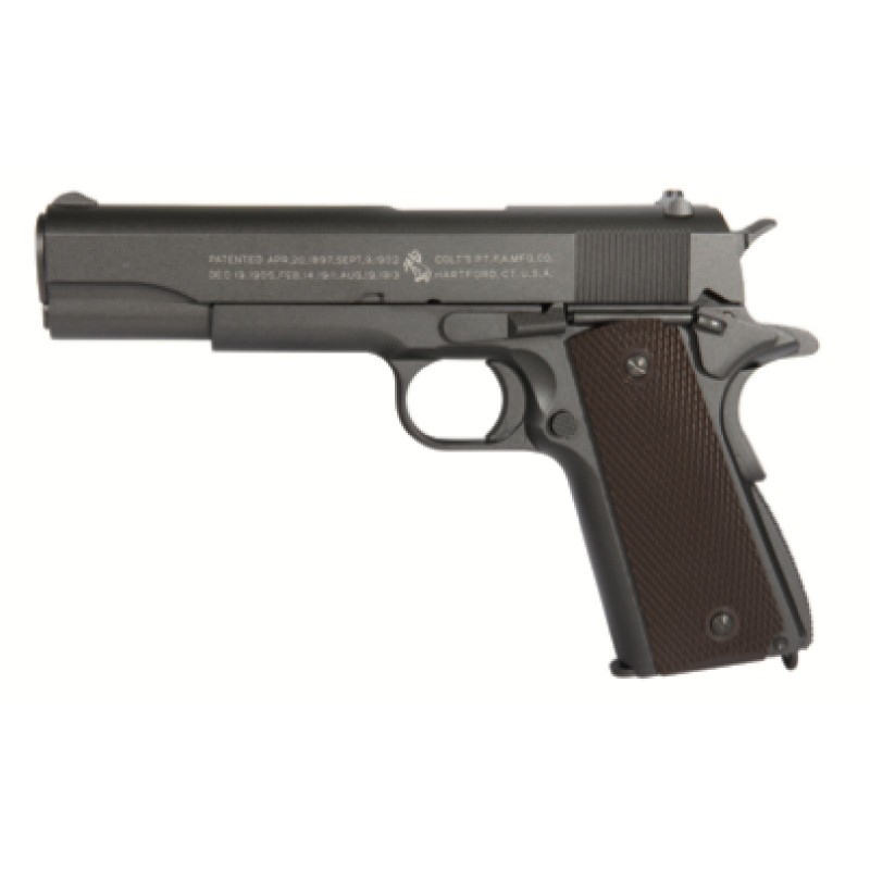 CO2 COLT M1911 RAIL GUN - FULL METAL - BLOW BACK
