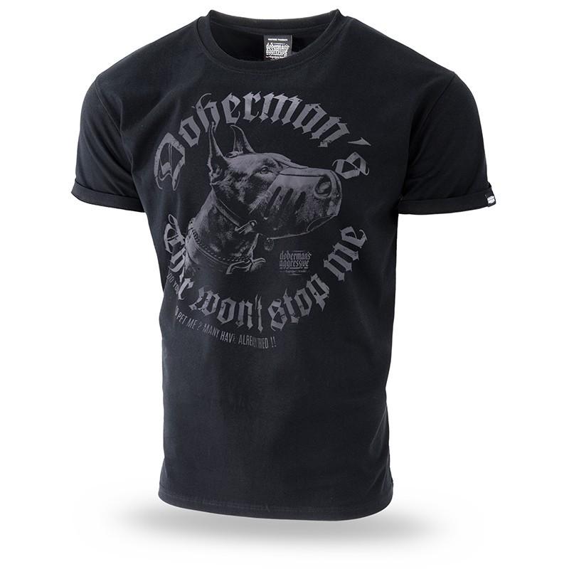 Kratka majica Doberman's Aggressive Dangerous Dog Črna