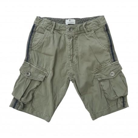 Otroške kratke hlače Small Gang olivne / 8-16