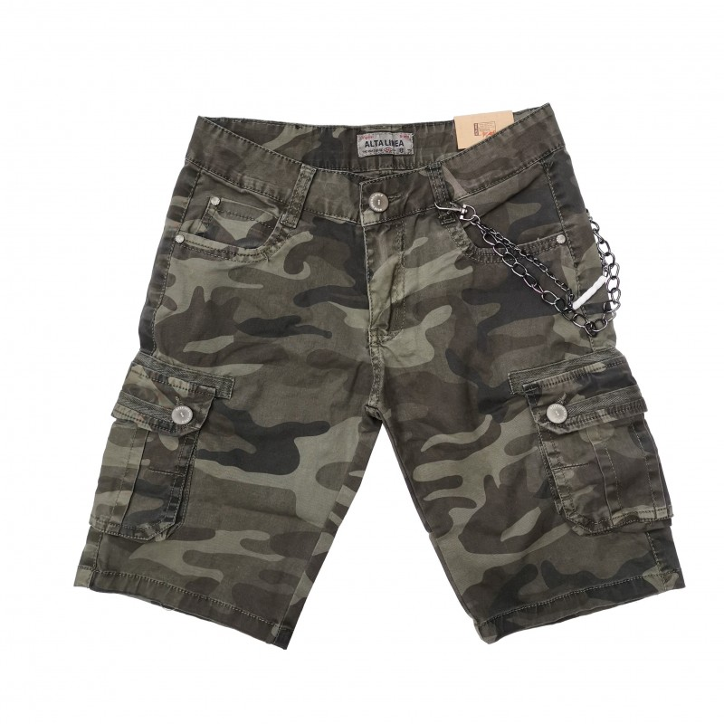 Otroške kratke hlače Alta Linea Dark Camo / 4-16