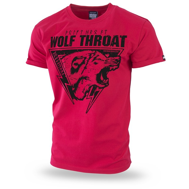 Kratka majica Doberman's Aggressive Wolf Throat III Rdeča