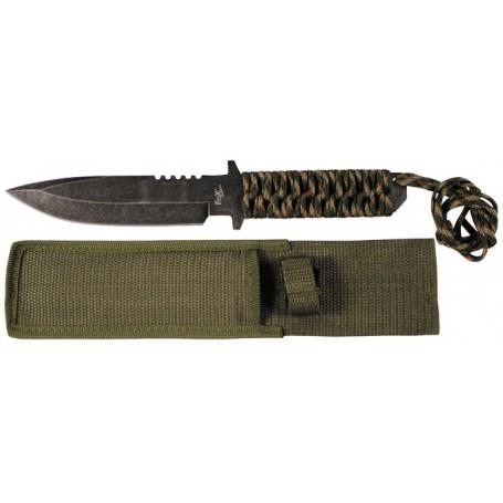 "Nož s fiksnim rezilom Paracord ""Stonewashed"""