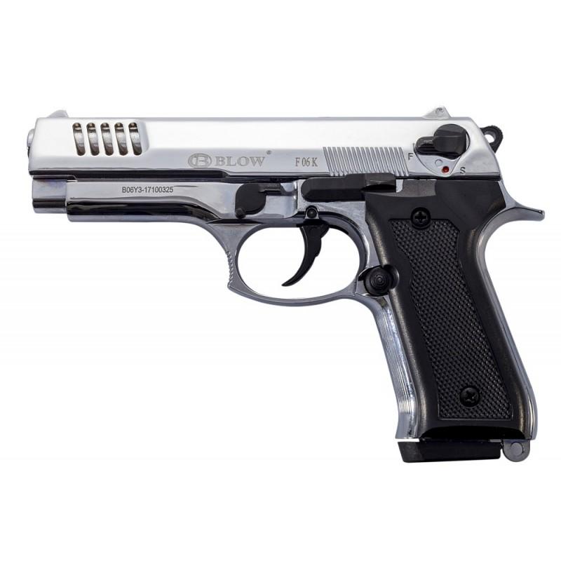 Plašilna pištola BLOW F06K Matte Chrome 9 mm