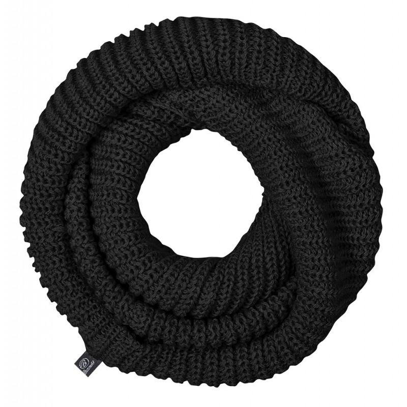 Šal cevasti pleten črn