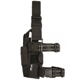 Tok za pištolo Cordura pas-noga črn