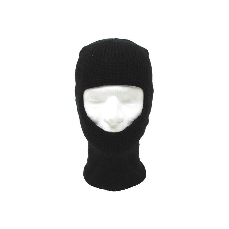 Maskirna kapa Balaclava zimska črna 1 luknja
