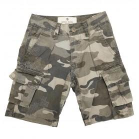 Otroške kratke hlače Small Gang Sive 3-8 let