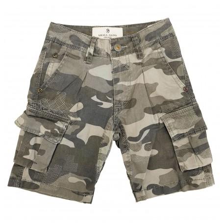 Otroške kratke hlače Small Gang Sive
