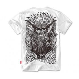 Majica kratek rokav Dobermans Aggressive VIKING II Bela TS58