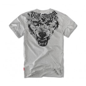 Majica kratek rokav Dobermans Aggressive Wolf Throat Siva TS65