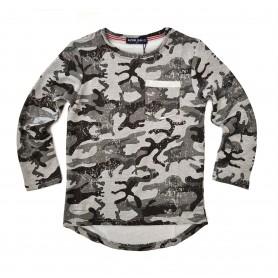 Otroška army majica Azur Gang Siva 4-14 let
