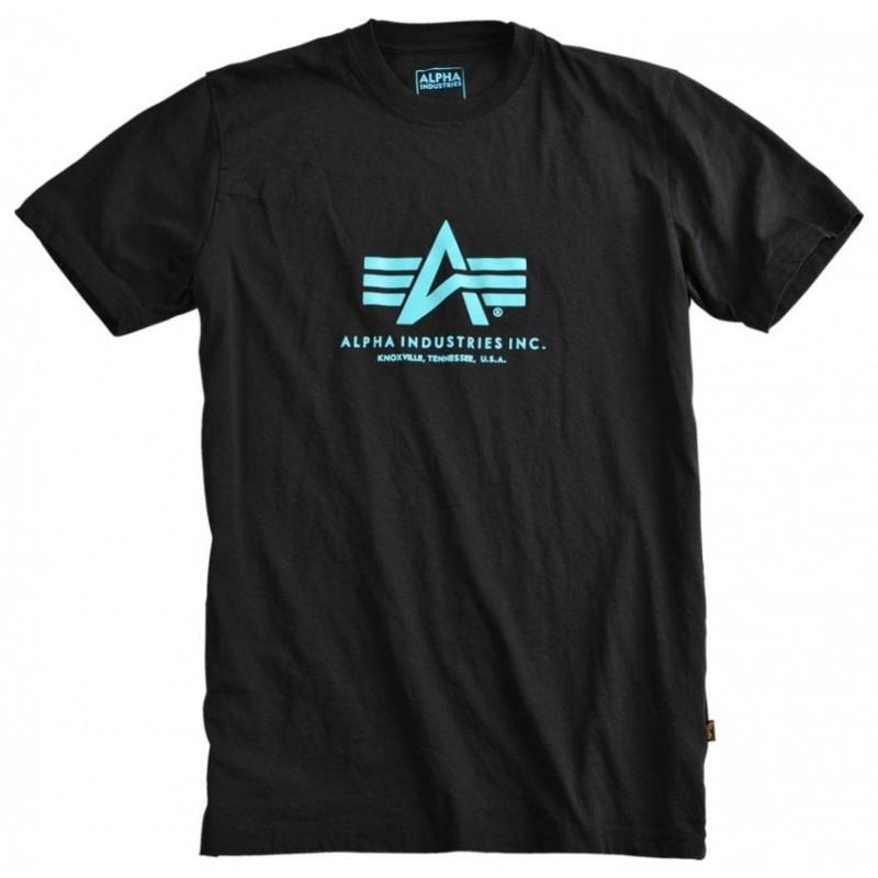 Kratka majica ALPHA INDUSTRIES BASIC Black&Blue