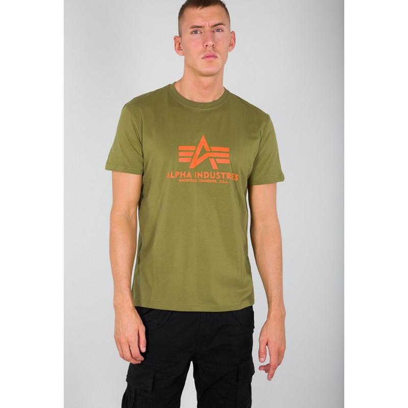Kratka majica ALPHA INDUSTRIES BASIC Khaki Green