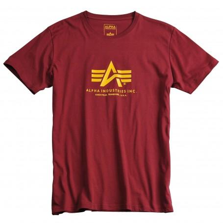 Kratka majica ALPHA INDUSTRIES BASIC Burgundy