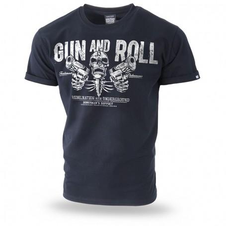 Majica kratek rokav Dobermans Aggressive Gun and Roll Črna TS192