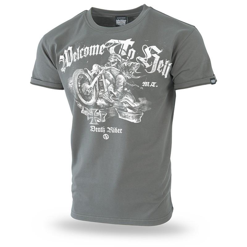 Majica kratek rokav Dobermans Aggressive Dr Welcome to hell Khaki TS188