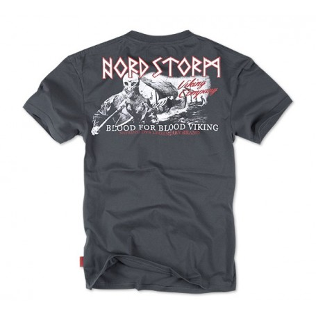 Majica kratek rokav Dobermans Aggressive Nord Storm Kovinsko siva TS84
