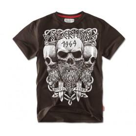 Majica kratek rokav Doberman's Aggressive Viking Rjava TS56