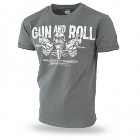 Majica kratek rokav Dobermans Aggressive Gun and Roll Khaki TS192