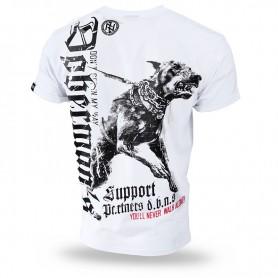 Majica kratek rokav Dobermans Aggressive Doberman's Support Bela TS220