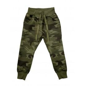 Otroške hlače - trenirka Army olivna 8-16 let