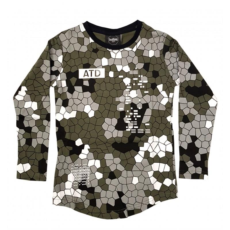 Otroška majica ATD olivno temno siva / 3-4