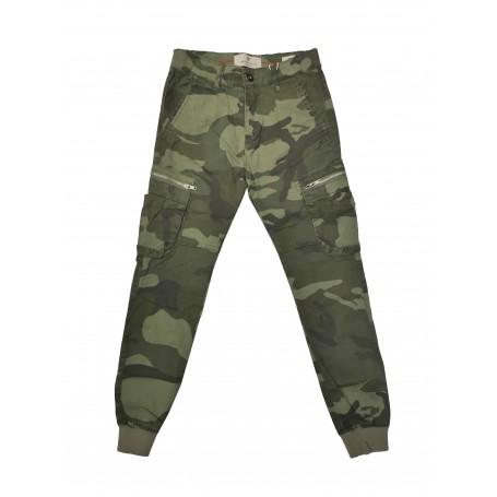 Vojaške otroške hlače na žepe Small Gang - olivne 8-16 let