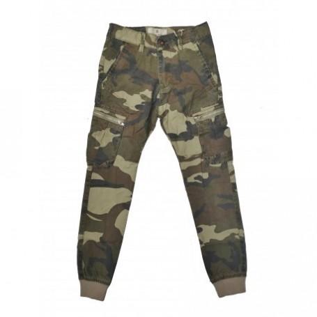 Vojaške otroške hlače na žepe Small Gang / rjave 8-16 let