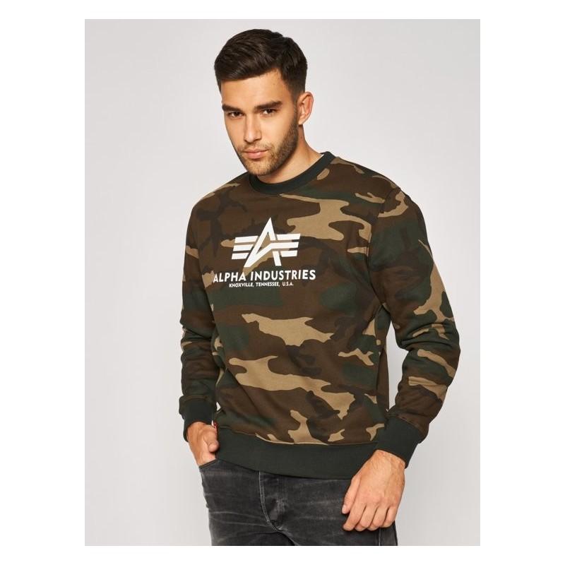 Pulover ALPHA INDUSTRIES Basic Sweater Kamuflažen