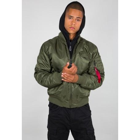 Pilotska jakna Alpha Industries MA1 D-Tec Temno zelena