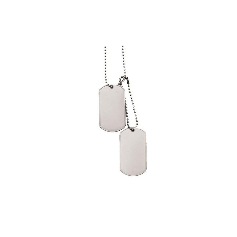 Vojaška verižica DOG TAG srebrna
