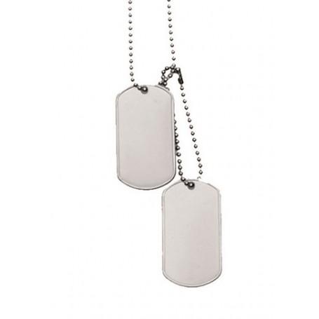Vojaška verižica DOG TAG srebrna - original