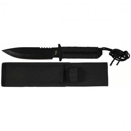 """Nož s fiksnim rezilom Paracord """"Stonewashed"""" črn"""