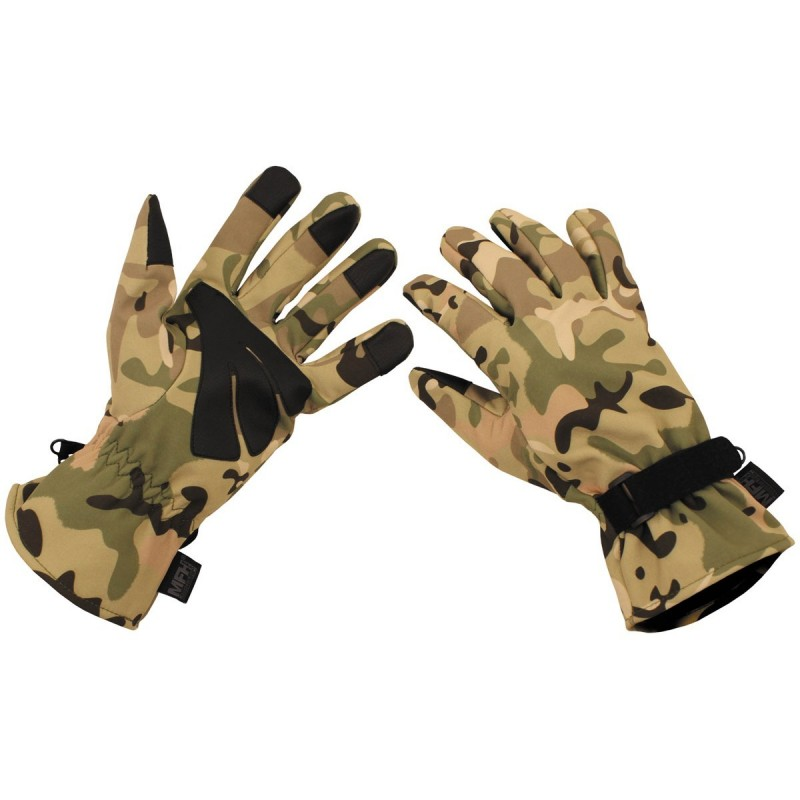 Rokavice Soft Shell operation-camo