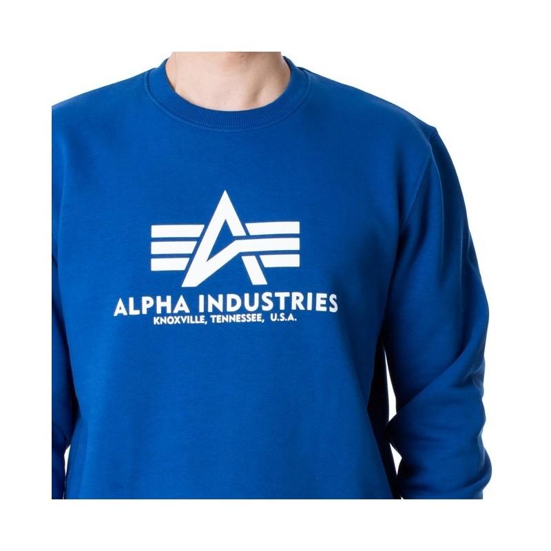 Pulover ALPHA INDUSTRIES Basic NASA blue