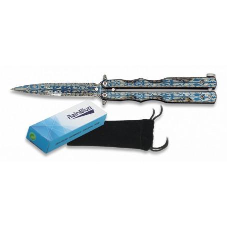 Nož Butterfly Rainblue Laser 02140