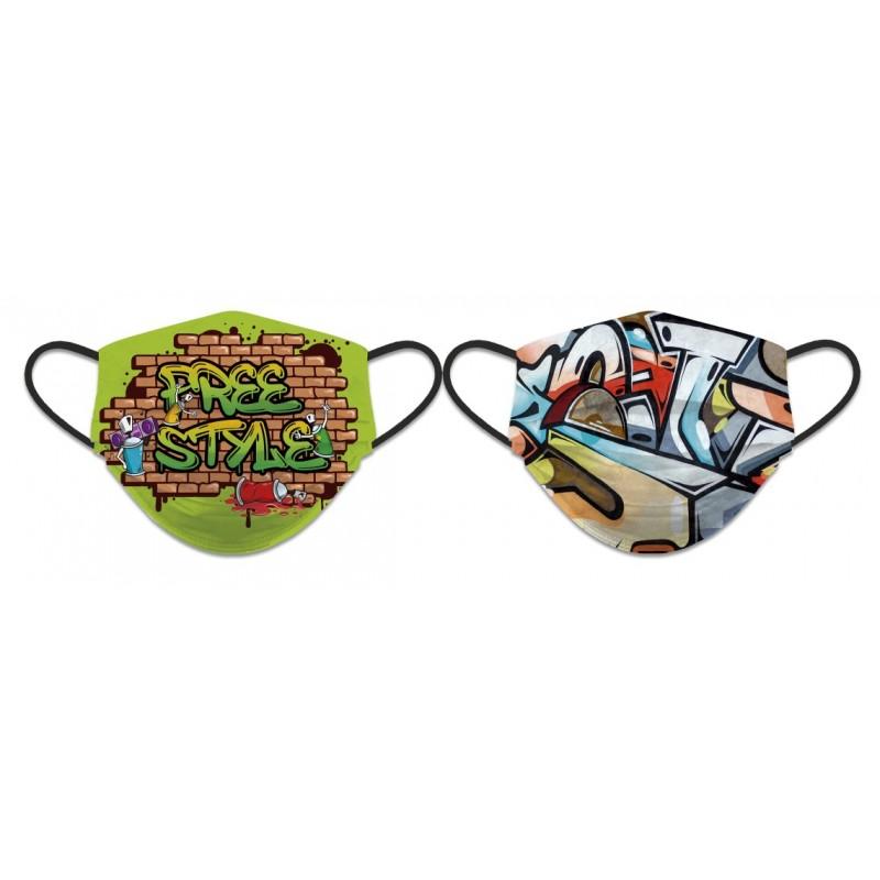 Obojestranska zaščitna pralna maska Free style 30791