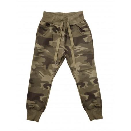 Otroške hlače - trenirka Army rjava 4-12 let