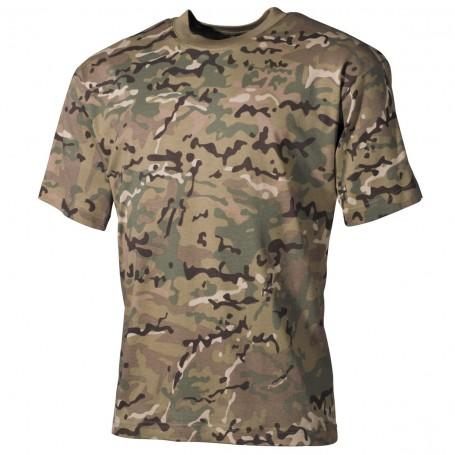 Otroška majica kratek rokav Basic Operation camo