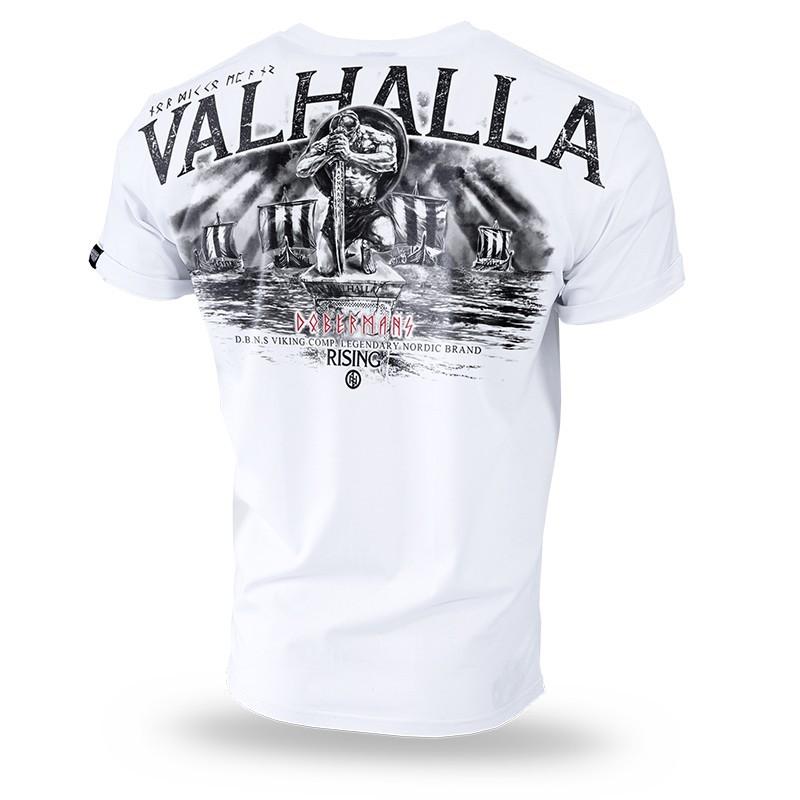 Majica kratek rokav Dobermans Aggressive Valhalla Bela TS204