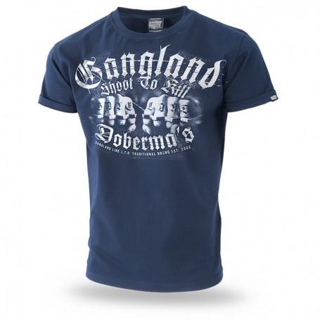Majica kratek rokav Dobermans Aggressive Gangland Navy TS210